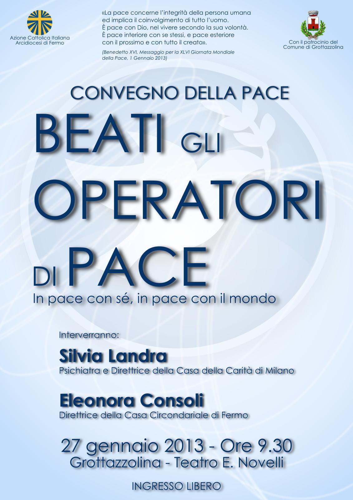 beati gli operatori di pace