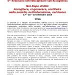 CS IV Seminario Interdisciplinare sull'Accoglienza